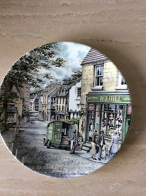 Royal Doulton Window Shopping Collector Plate by Colin Warden The General Store