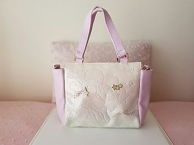 Sanrio Little Twin Stars Tote Shoulder Bag Cross Body PU Leather 2WAY Gem Style
