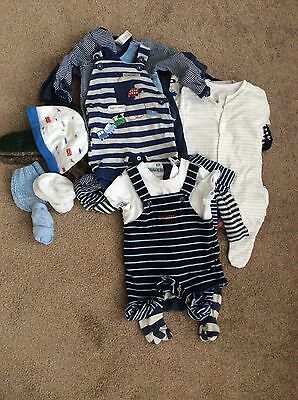 Baby Boys Bundle Of 10 Items Age 0-3 Months