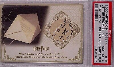 Harry Potter-MM Pt1-GOF-GRADED-AUTHENTIC-Prop Card-Letter From Sirius-#6/50-Ci3