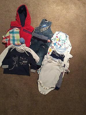 Baby Boy Clothes Bundle Of 14 Items Size 0-3