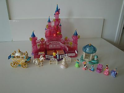 POLLY POCKET BLUEBIRD CHATEAU DE CENDRILLON DISNEY CiNDERELLA LUMINEUX