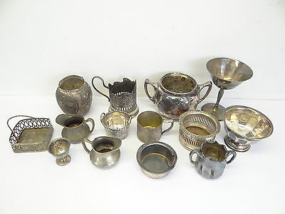 Mixed Antique & Vintage Lot Silverplate Cups Pitchers Creamer Raimonel Sheffield