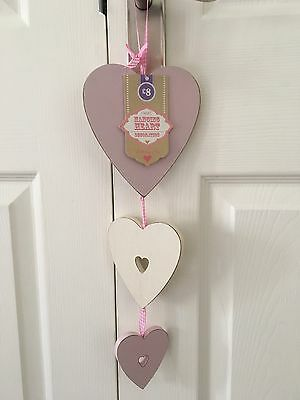 NEW Next Hanging Heart Decoration, Shabby Chic, Wooden, Girls Bedroom