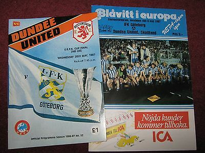 Dundee United v IFK Gotoborg 1987 Uefa  Cup Final Home and away