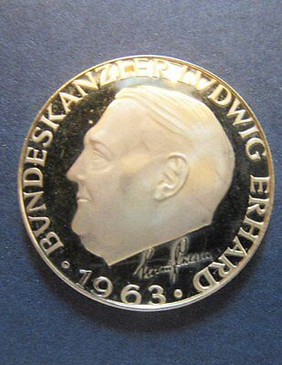 1963 German Gold Coin Chancellor Ludwig Erhard