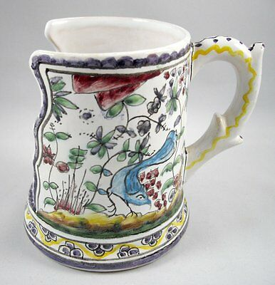 Berardos Portugal Pottery Candle Holder Cup Mug Vintage Hand Painted Signed