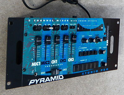 Lightly used Pyramid PM4800SFX audio mixing DJ podcast broadcast console mixer