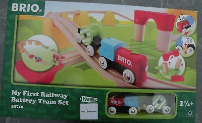 BRIO 33710 Holzeisenbahn mit Batterie My first Railway Battery Train Set OVP Neu