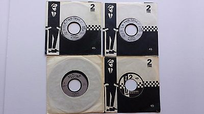 "Four REGGAE SKA 7"" VINYLS THE SELECTER THE SPECIALS TWO TONE GANGSTERS"