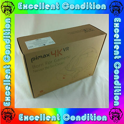 PIMAX 4K VR Virtual Reality Glasses 3D Headset Boxed PC Earphones - Excellent C