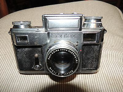 Vintage Contax Zeiss IKON 35mm Camera with Case Carl Zeiss Jena Lens Sonnar