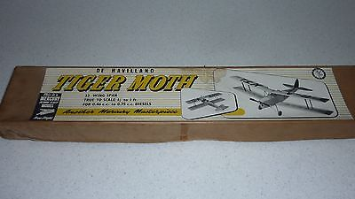 Mercury de Havilland Tiger Moth scale power flying model balsa kit  33""