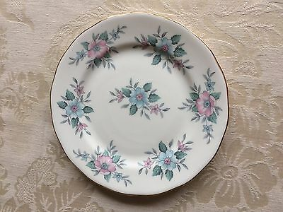 Vintage Colclough Bone China 'coppelia' Pastel Pink Blue Floral Tea Side Plate