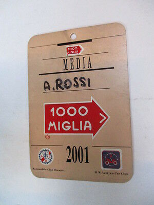 Pass Media Mille Miglia 2001