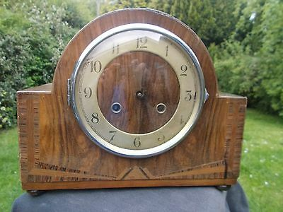 Art Deco Mantle Clock Case & Movement. Spares/Repair...