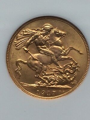 1917C Canada Gold Sovereign NGC MS63
