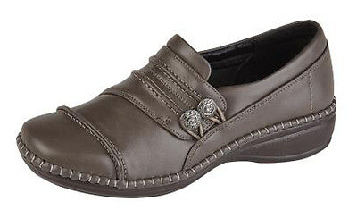 301d602f9f0 Womens Extra Wide EEE Fit Leather Lined Casual Shoes Size 3 - 9 BROWN