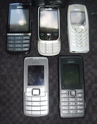 A job lot of 5 Untested Nokia mobile phones
