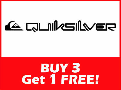 QUICKSILVER Logo Sticker/Decal ***Buy 3 Get 1 Free*** 700x75mm Car/Surf/Skate
