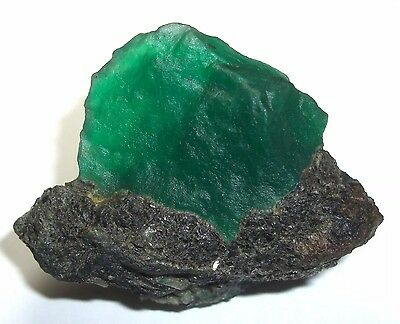 TOP QUALITY 303 Cts TRANSLUCENT Not Enhanced Color  Rough Emerald Beryl