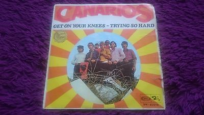 "Canarios ‎– Get On Your Knees ,  Vinyl, 7"", 1968 , Spain , SN-20078"