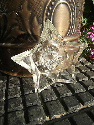 Candlestick - Gothic Pentagram Glass 5 Pointed Star