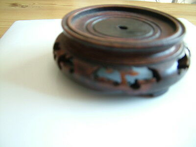 Antique/Vintage Asian Carved Wood Stand Base For Vase - Chinese/Japanese