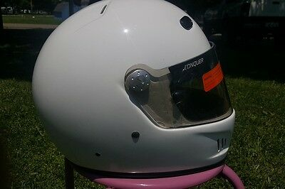 conquer fullface snell2010 racing helmet ..large..new visor