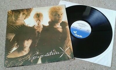 Generation X - S/t Debut Lp - 1978 1St Press - Top Opening Sleeve - Vg+ Vinyl