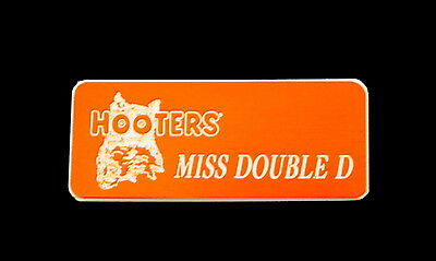 Hooters Uniform Miss Double D Name Tag Nametag Waitress Bartender Badge Pin