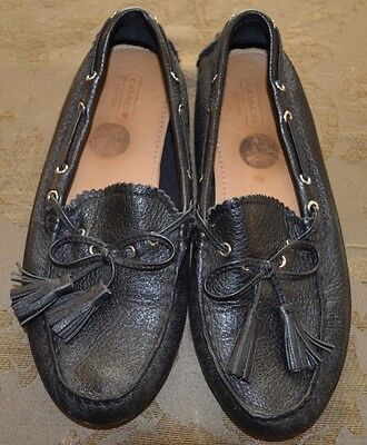 COACH Nadia Black Leather Driving Loafers Moccasin Womens ...