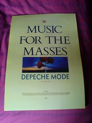 "Depeche Mode ""music For The Masses"" 17 X 11 Promo Poster"