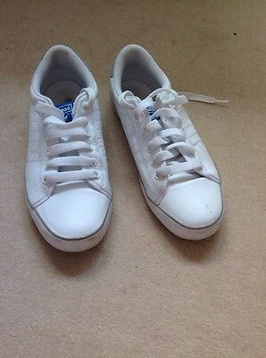 Mens Adidas White Leather Trainers UK Size 9