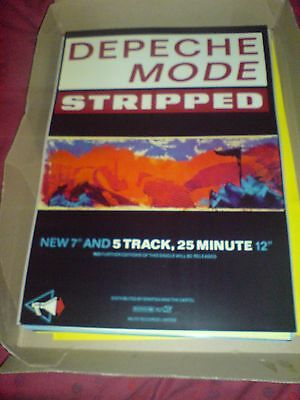 "Depeche Mode ""stripped"" 17 X 11 Promo Poster"