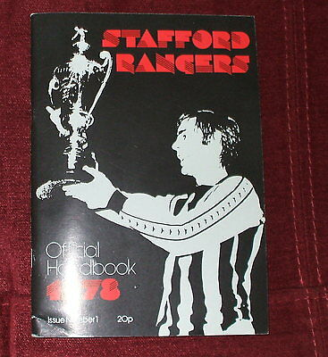 Stafford Rangers Official Handbook 1978 Issue Number One