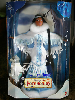 Disney Pocahontas Winter Moon Barbie Mattel 1999 NRFB Meeko