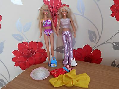 Barbie Dolls X 2 Dressed & With Shoes