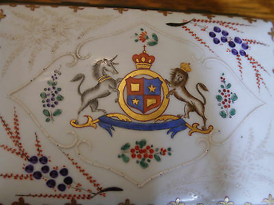 Fine Samsons Antique French Late 19th C. Chinese Export Style Armorial Box