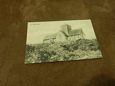 Early  Postcard- St Martha's church on the hill - Chilworth - Guildford Surrey