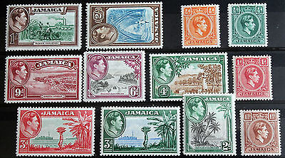 Jamaica – 1938 George VI Set to 2/- - Very Lightly Mounted Mint – (Se1)