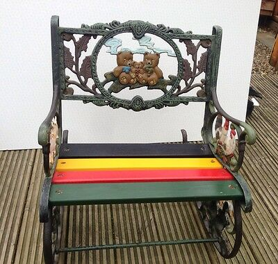 Vintage Old Cast Iron  Rocking Chair, Very Heavy