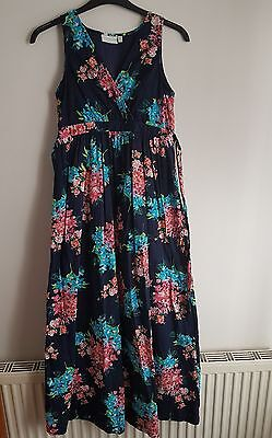Jojo Maman Bebe Maternity Floral Maxi Dress Size 8 Excellent Condition