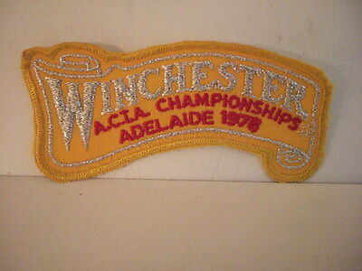 Winchester A.C.I.A. Championships Adelaide 1978 embroidered shoulder patch