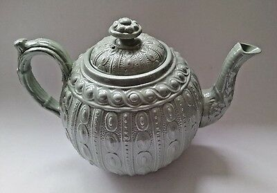 Beautiful Small English Antique  Grey Teapot V Good Condition