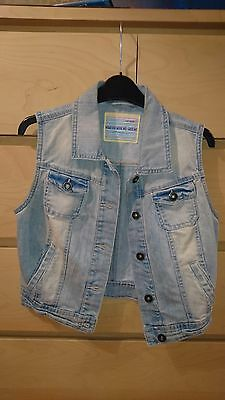 New Look Denim Waistcoat - Size 10 - Excellent Condition