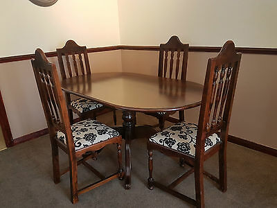 SOLID WOOD OVAL Dining Table and 4 Chairs - £42.00 ...