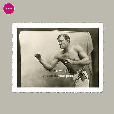 Handsome Shirtless Man Gay Interest Male Beauty Beefcake Boxing Vintage Photo