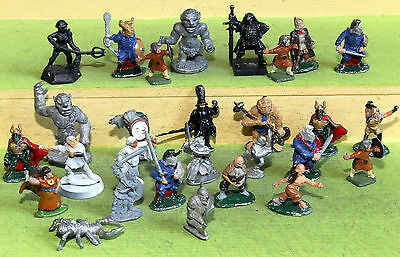 fantasy role play figures white metal mixed lot