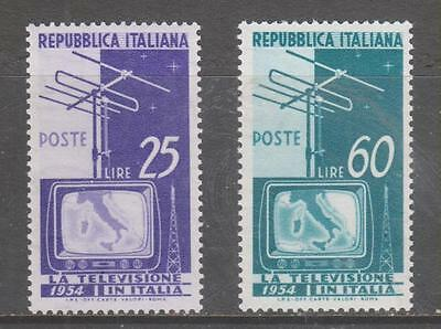 ITALY - 1954.  Introduction of Television - Set of 2, MNH